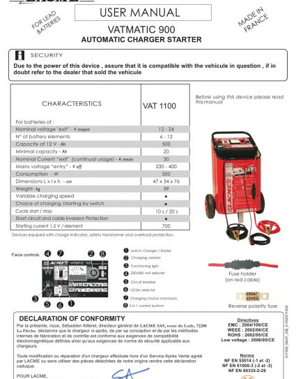 Battery booster Charger 12/24