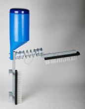 Cattle Brush with Pesticide Dispenser