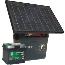 SECUR 500 SUN + 50 Watt Solar Panel + Deep Cycle Solar Battery